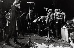 Rolling Stones at the Altamont Rock Festival at Livermore, Calif. Dec. 6, 1969 (AP Photo)