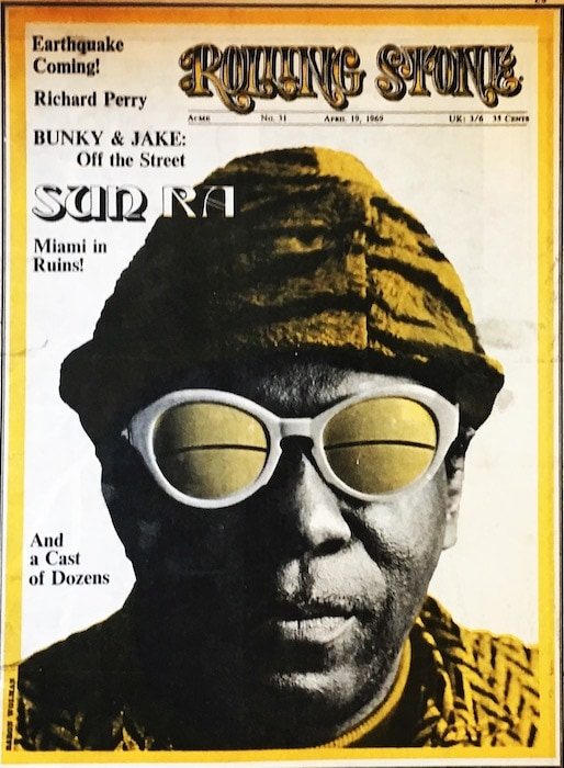 Sun RA on the cover of Rolling Stone
