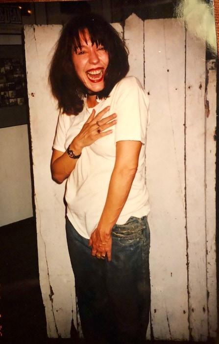 Pamela wearing James Dean's clothes