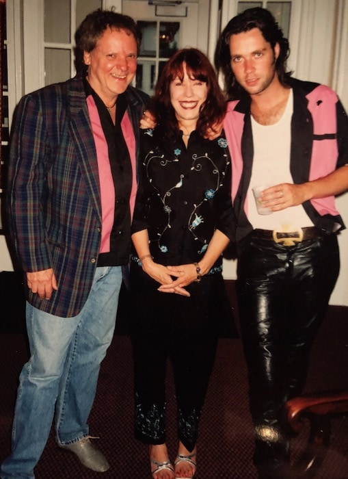 Pamela Des Barres David Loehr and Lenny Prussack owners of the James Dean Gallery
