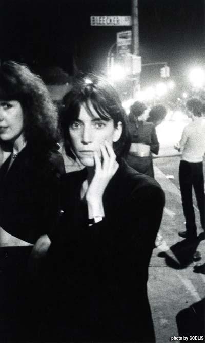 Patti Smith, Bowery 1976 - By Godlis