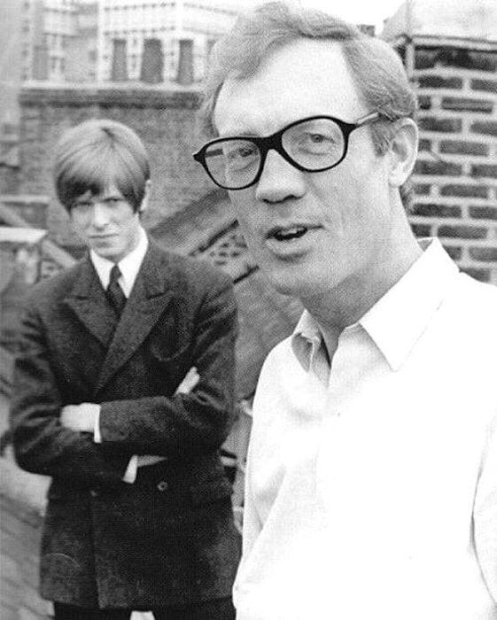 Kenneth Pitt and David Bowie
