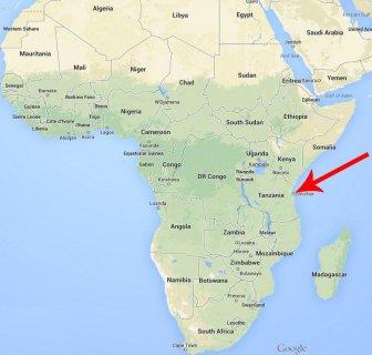 Location of Zanzibar