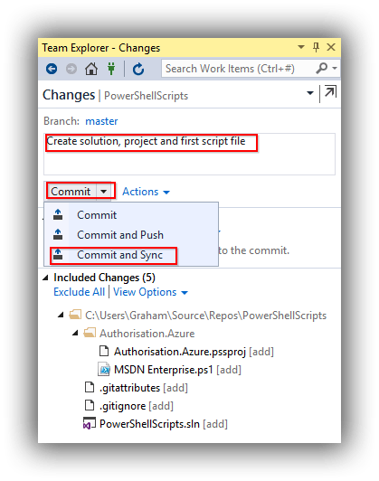 visual-studio-team-explorer-changes