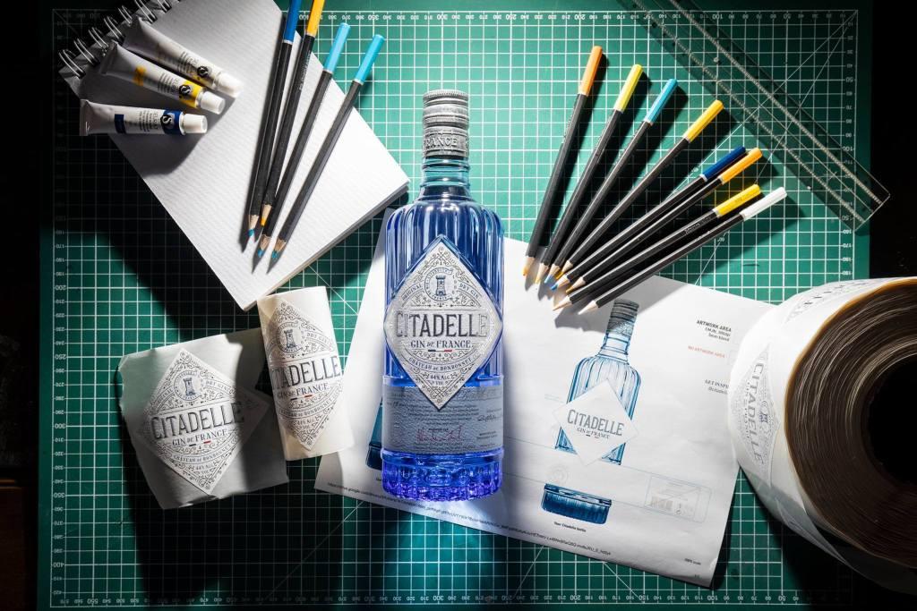 Citadelle Gin concours étiquette