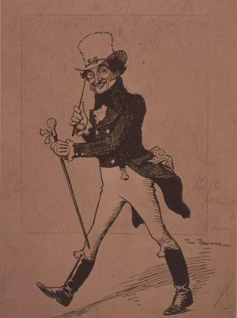 Johnnie Walker logo Tom Browne