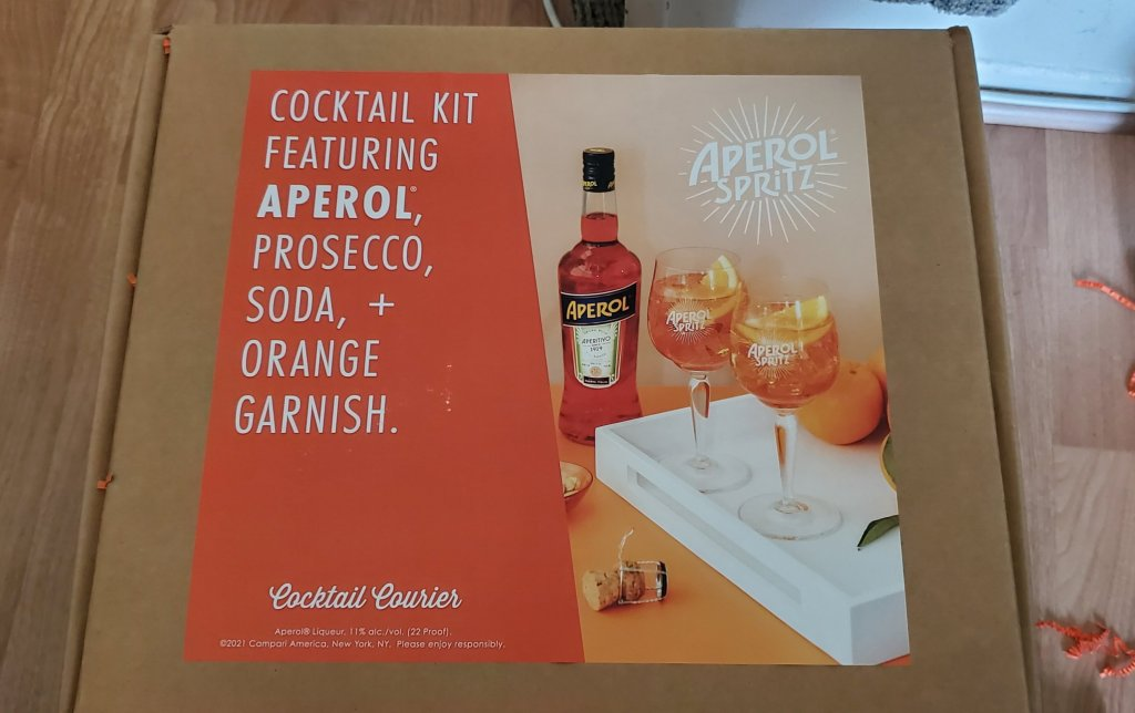Please The Palate Pick of the Week: Aperol Spritzes with the Limited-Edition Aperol Spritz kit from Cocktail Courier