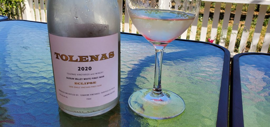 Please The Palate Wine of the Week: Tolenas Winery 2020 Eclipse White Pinot Noir, Suisun Valley