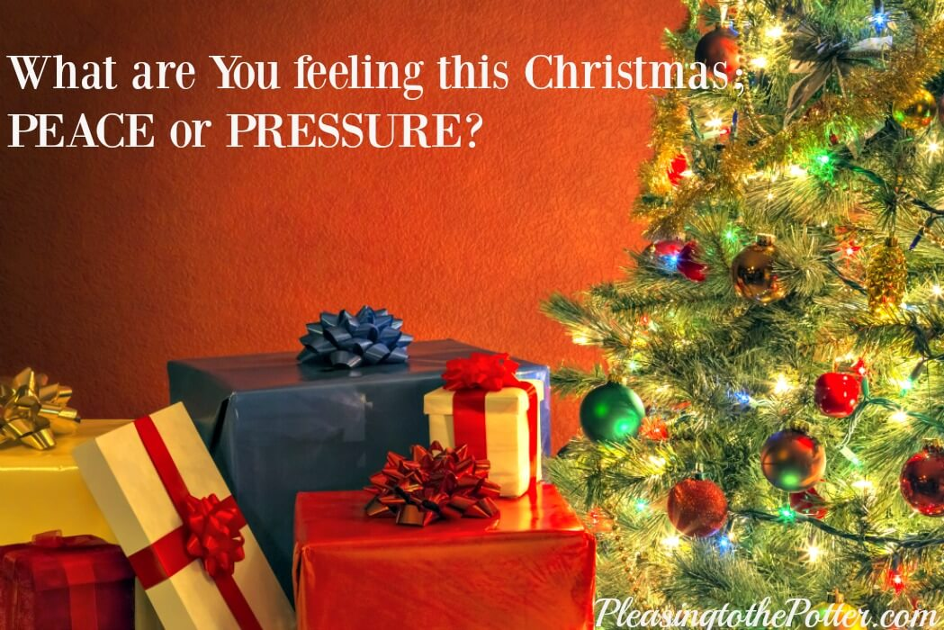 Do you feel Peace of Jesus or pressure at Christmas?