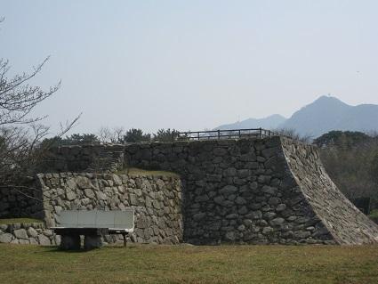 萩城天守閣の石垣