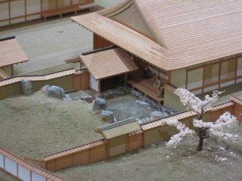 吉川元春館跡庭園模型