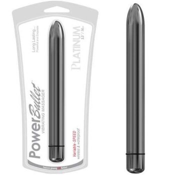 Platinum Power Bullet vibrator in clamshell packaging