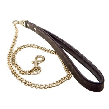 Bound Nubuck bronze metal chain lead