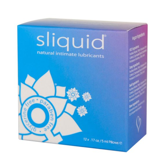 Sliquid Naturals Lube Cube outer cardbox box