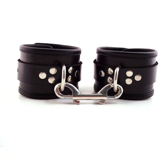 Black Rouge leather ankle cuffs