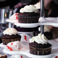 Chocolate cupcakes with nutella/Šokoladiniai keksiukai su nutella