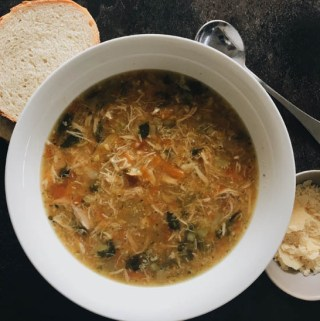 Homemade chicken soup | pleasureonaplate.com