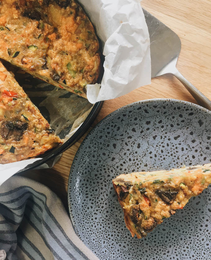 Vegetable baked frittata