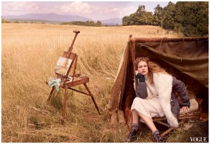 Annie Leibovitz, Vogue, October 2014; Natalia Vodianova