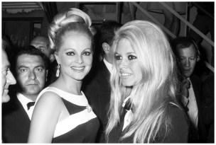 Virna Lisi with Brigitte Bardot a Cannes, 1967 (Olycom