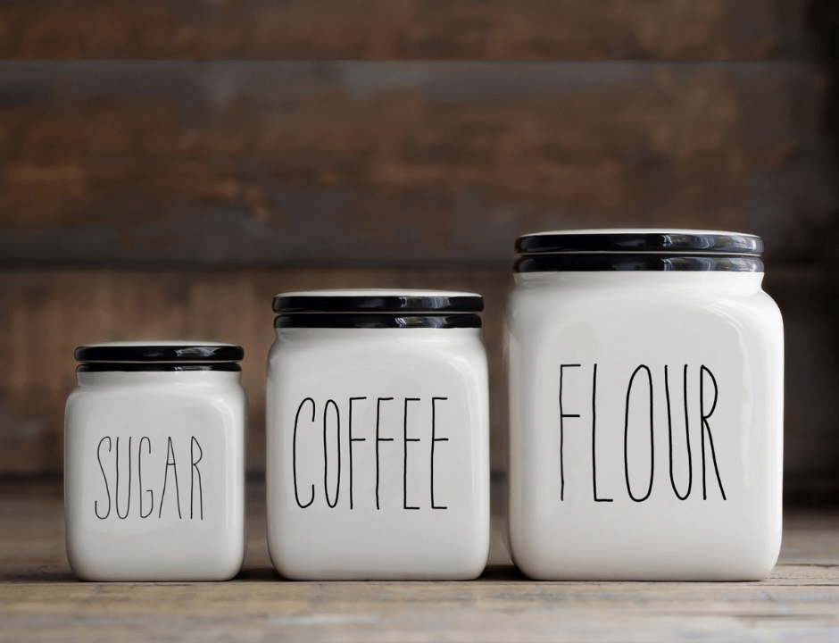 Rae Dunn Inspired Kitchen Labels