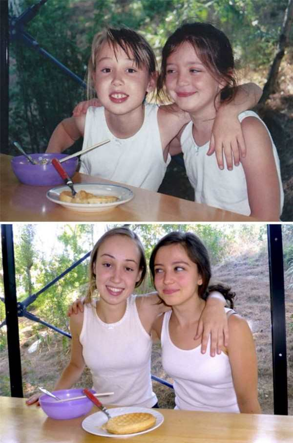 19 Wonderful Recreations Of Childhood Photos Pleated Jeans