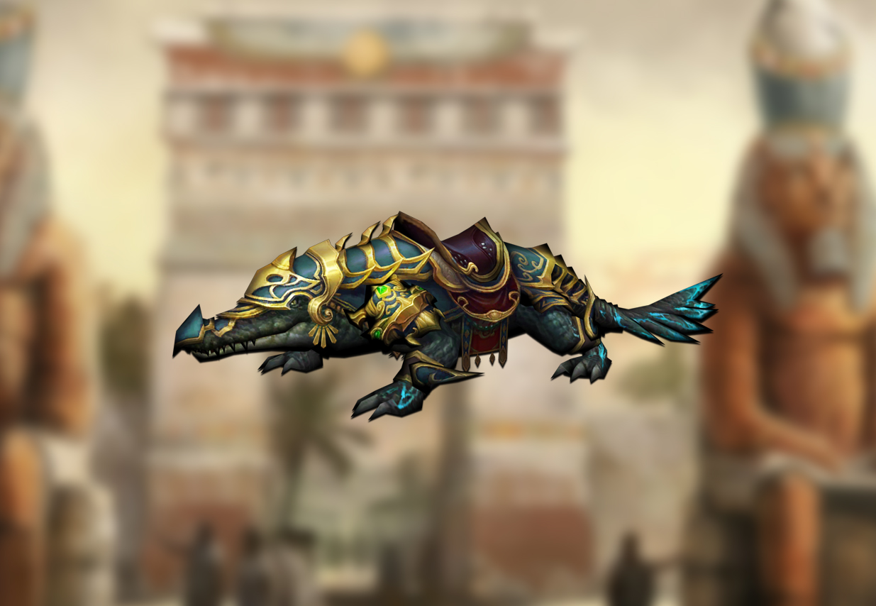 You are currently viewing Egyptain crocodile mount