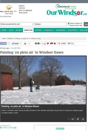 Online Magazine Our Windsor Jan 27, 2015