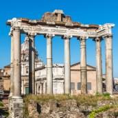 Le temple de Castor et Pollux.