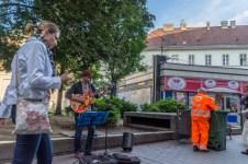 Scène de rue à Budapest