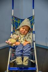 Duane Hanson: Baby in a stroller.
