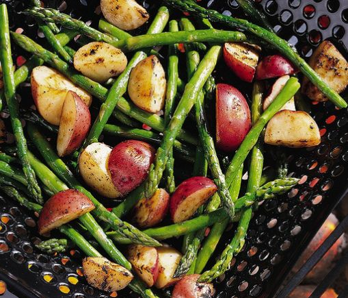 Grilled fresh asparagus has a completely different taste and texture