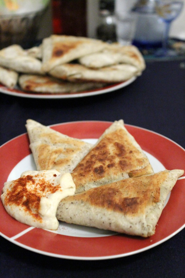Curried Phyllo Pockets with Mushroom, Potatoes and Peas – Vegan