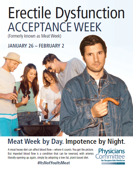 erectile dysfunction and meat awareness campaign