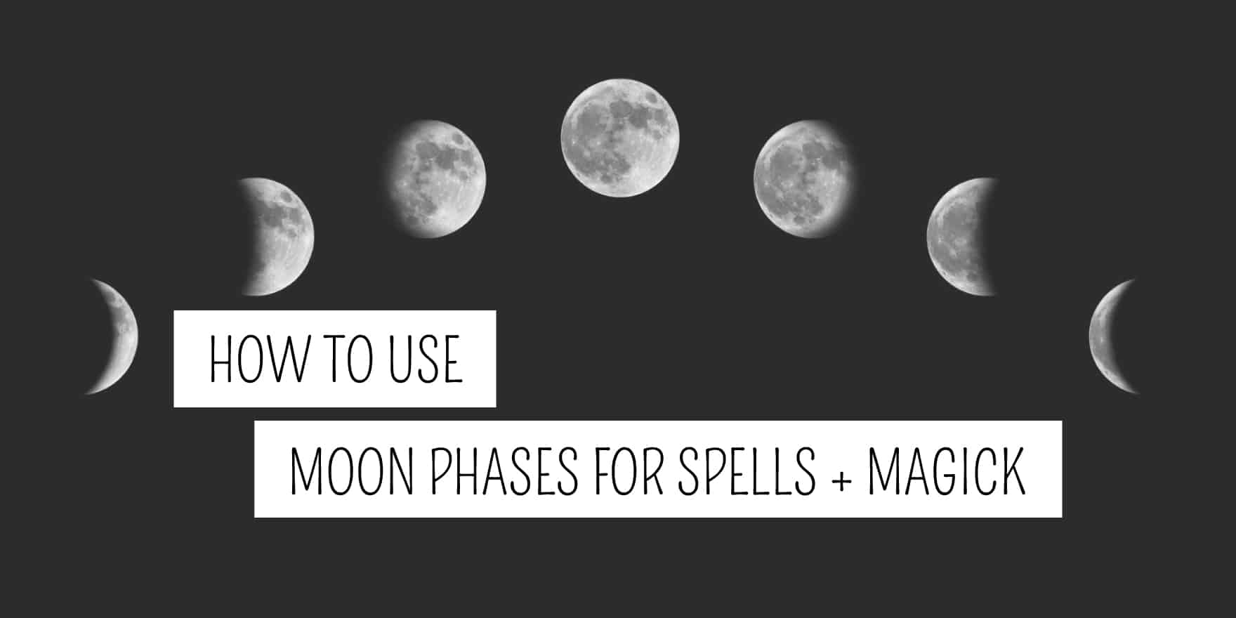 How To Use The Moon Phases For Spells And Magick Plentiful Earth