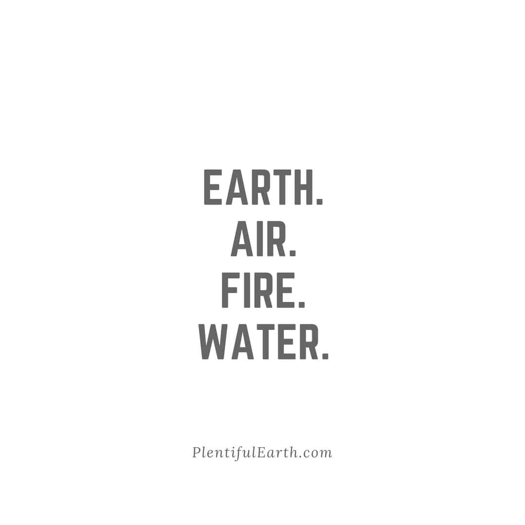 Earth Air Fire Water Chant Wiccan Quote Plentiful Earth