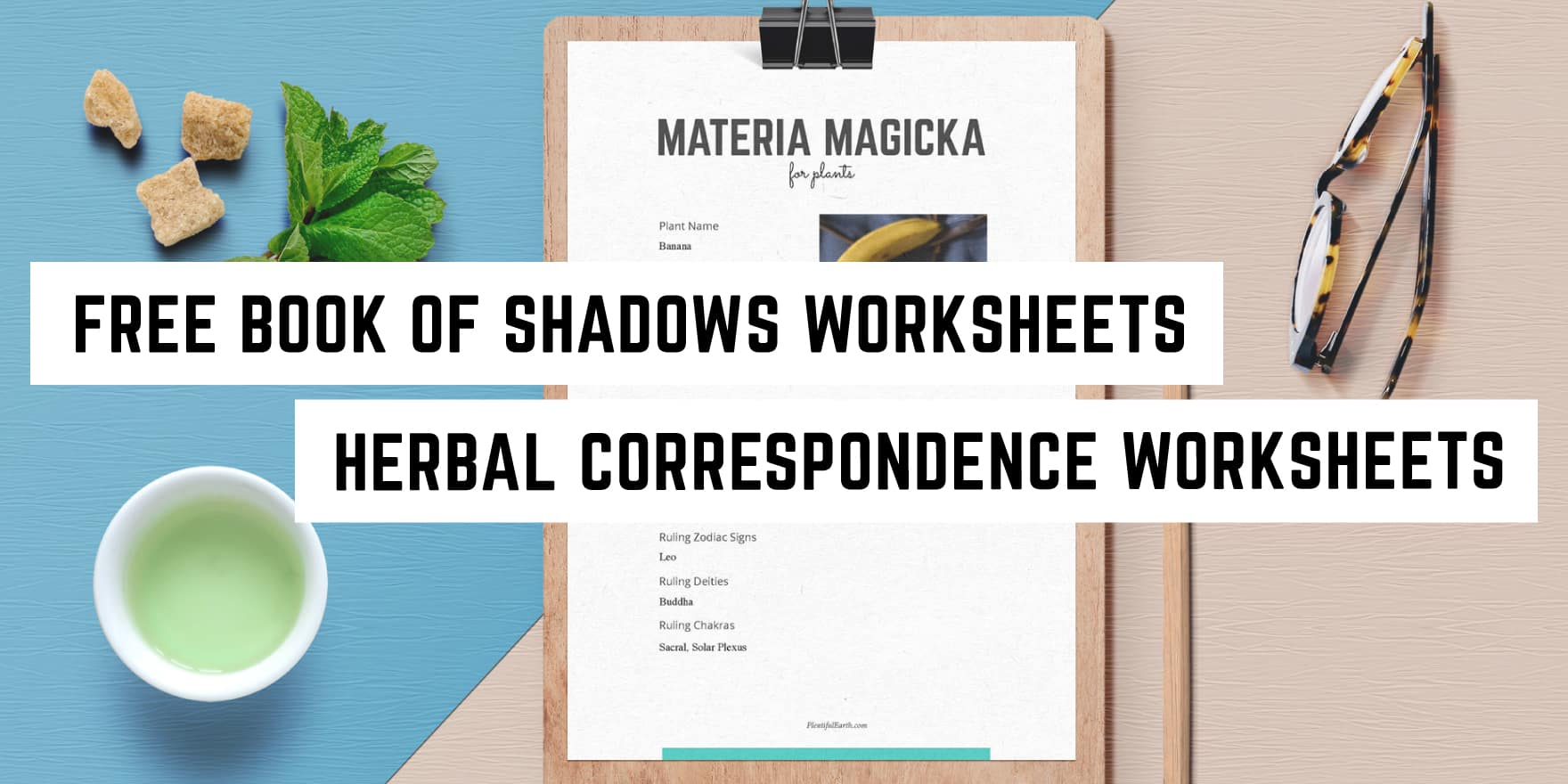 Free Materia Magicka Worksheets Plentiful Earth