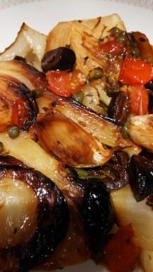 Roasted veg with caper vinaigrette
