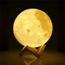 Glowing moon lamp