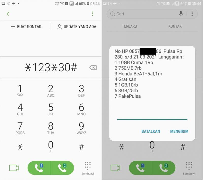 cara cek nomor im3 lewat sms
