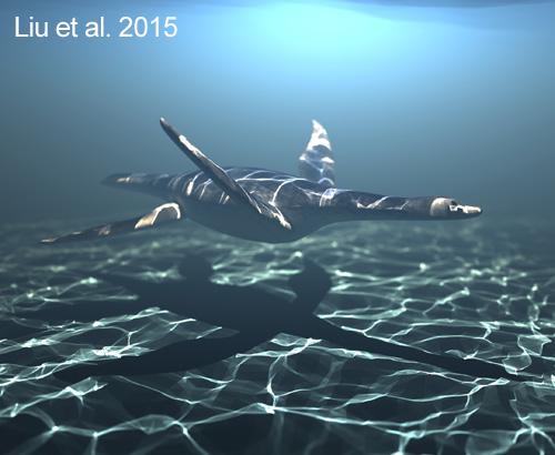 Meyerasaurus swimming