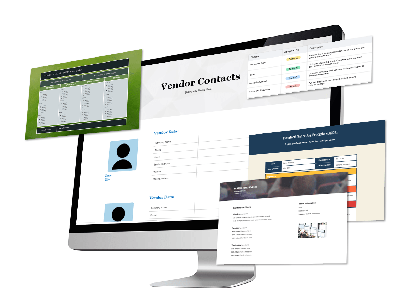 Plexie templates for small business operations. content management. task management. team collaboration
