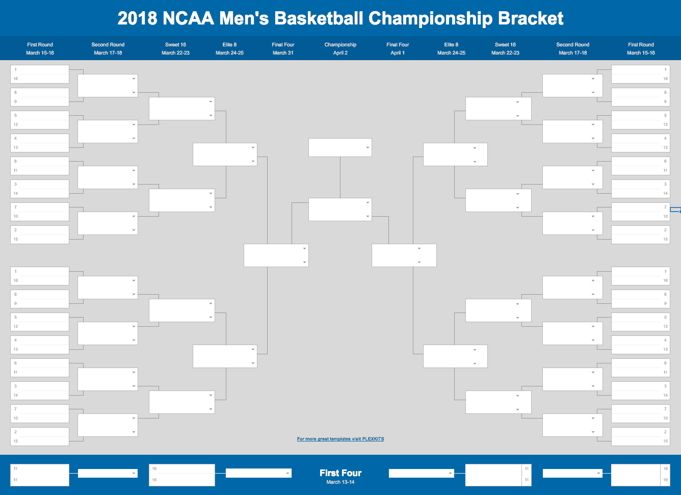 March Madness Bracket Excel And Sheets Template