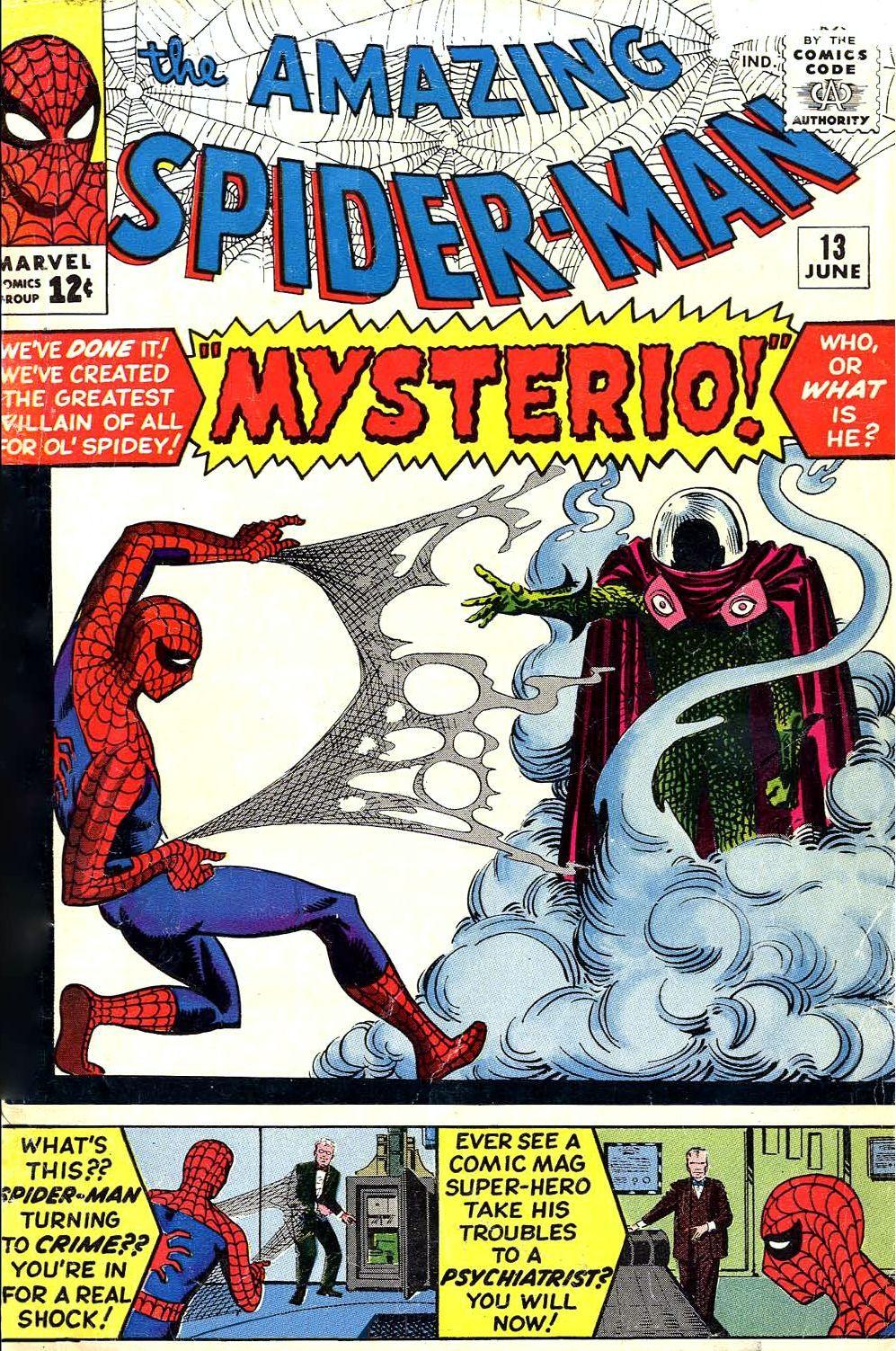 Portada de The Amazing Spider-Man #13 (junio de 1964). Imagen: pinterest.com