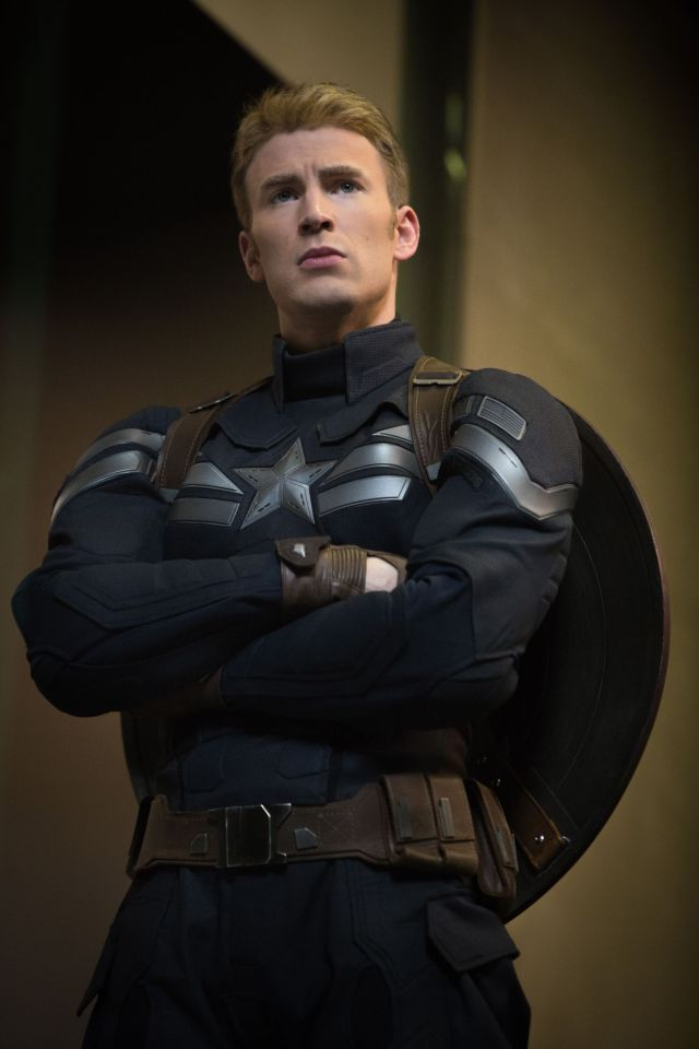Chris Evans como Captain America/Steve Rogers en Captain America: The Winter Soldier (2014). Imagen: pinterest.com