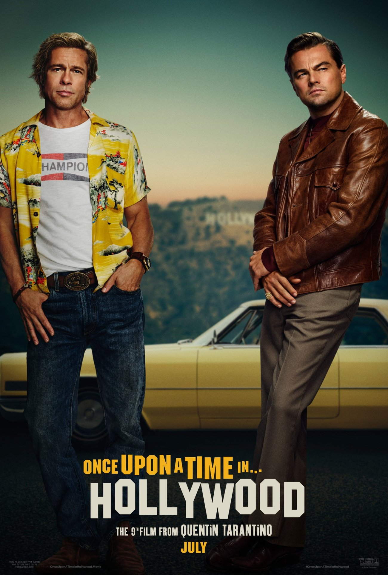 Póster de Once Upon a Time in Hollywood (2019). Imagen: Once Upon a Time in Hollywood Twitter (@OnceInHollywood).