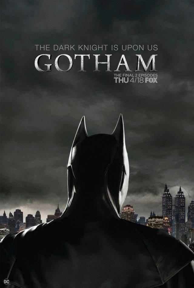 Póster de los dos episodios finales de Gotham en FOX. Imagen: Gotham Twitter (@Gotham).