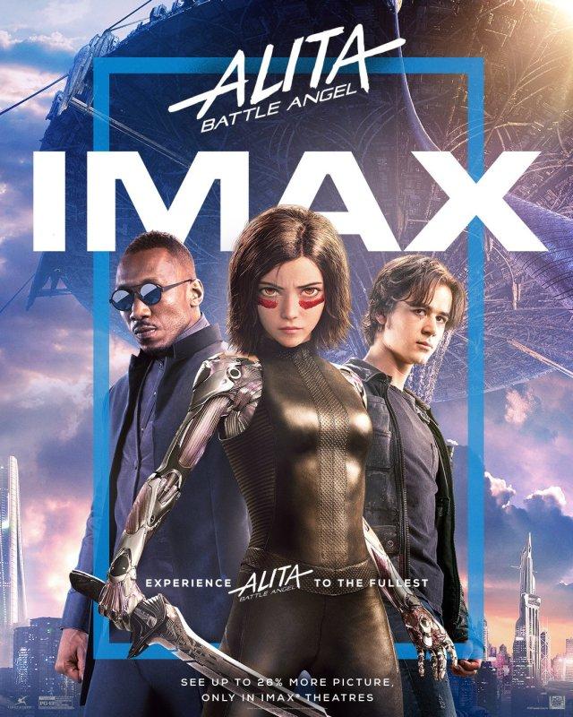 Póster IMAX de Alita: Battle Angel (2019). Imagen: IMAX Twitter (@IMAX).