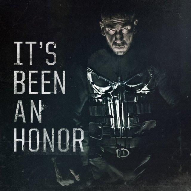 Ha sido un honor. Imagen: The Punisher Twitter (@ThePunisher).