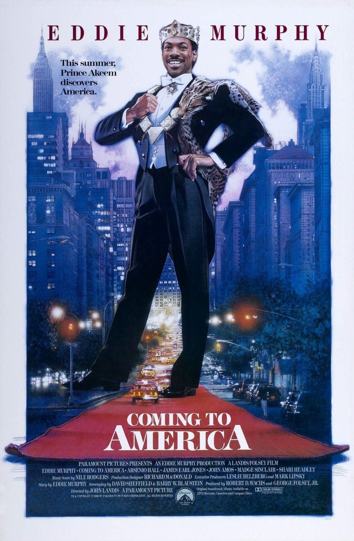 Póster de Coming to America (1988) por Drew Struzan. Imagen: impawards.com